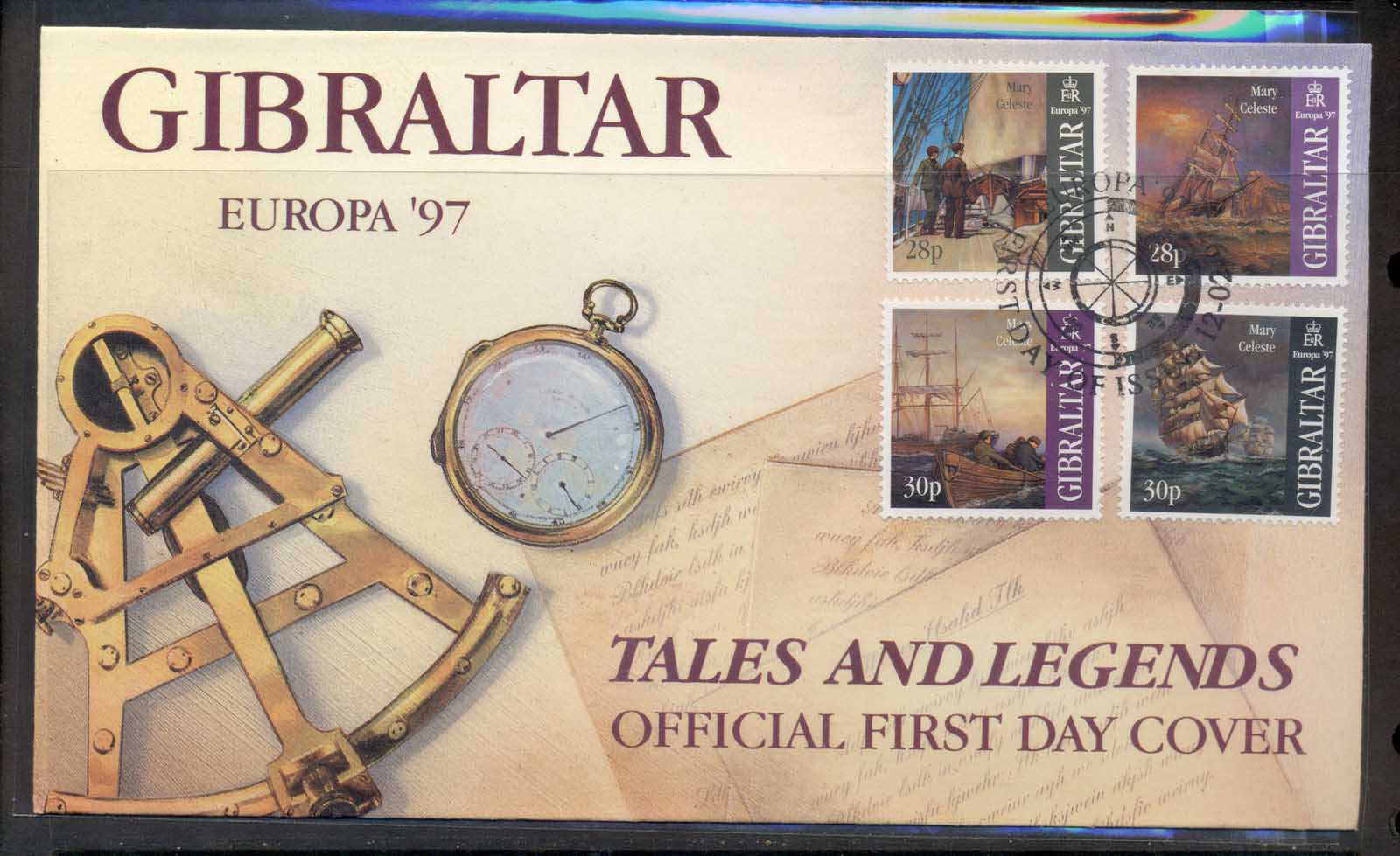 Gibraltar 1997 Europa Myths & legends FDC