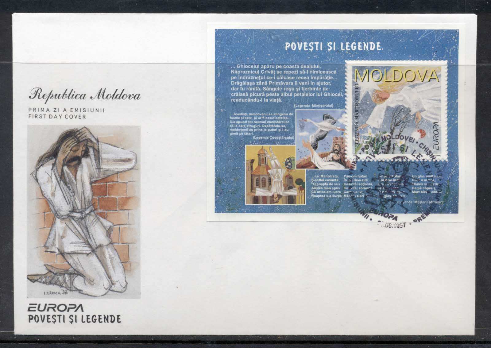 Moldova 1997 Europa Myths & legends MS FDC