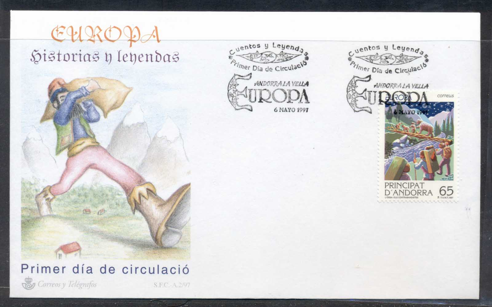 Andorra (Sp) 1997 Europa Myths & legends FDC
