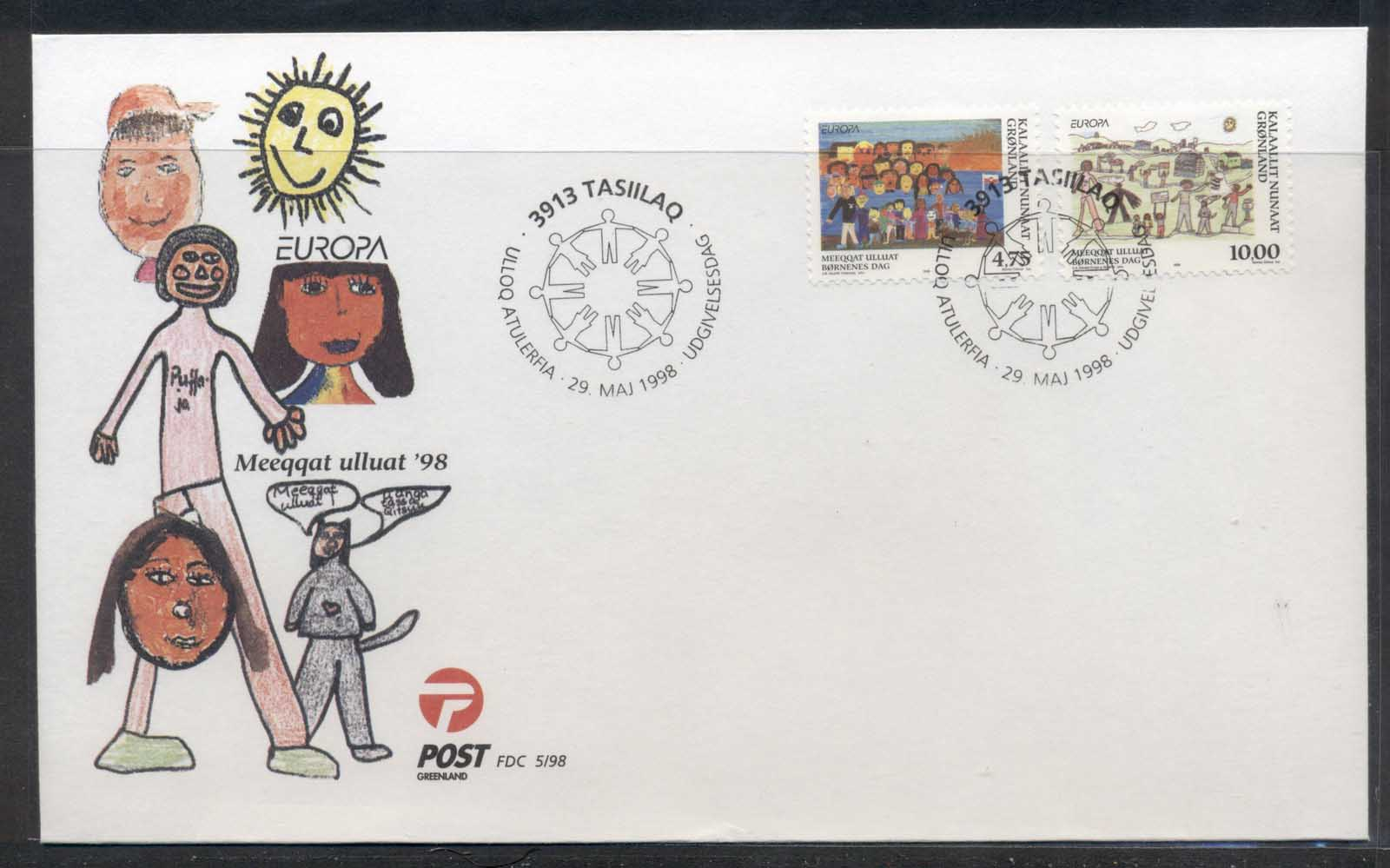 Greenland 1998 Europa Holidays & Festivals FDC