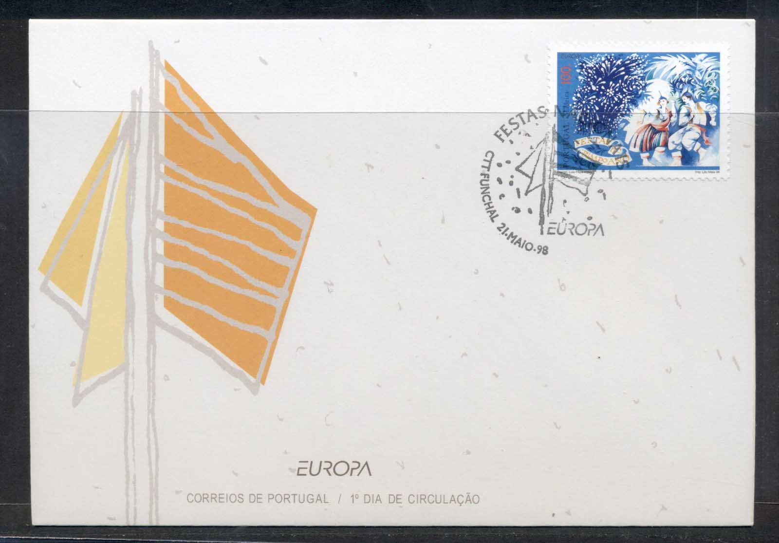 Portugal 1998 Europa Holidays & Festivals FDC