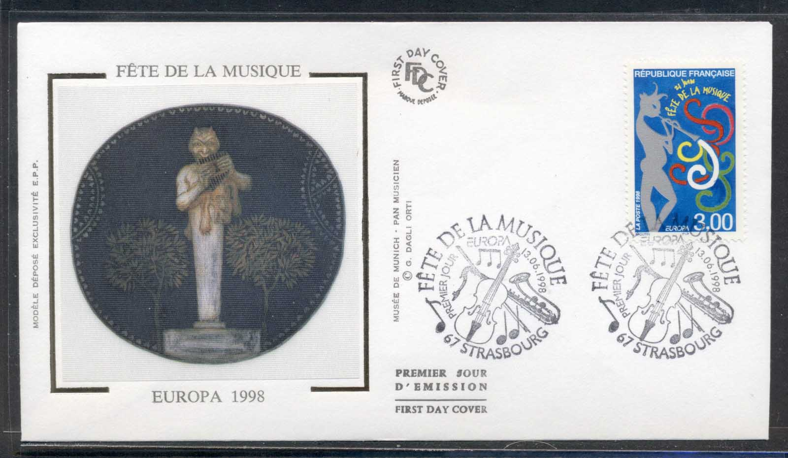 France 1998 Europa Holidays & Festivals FDC