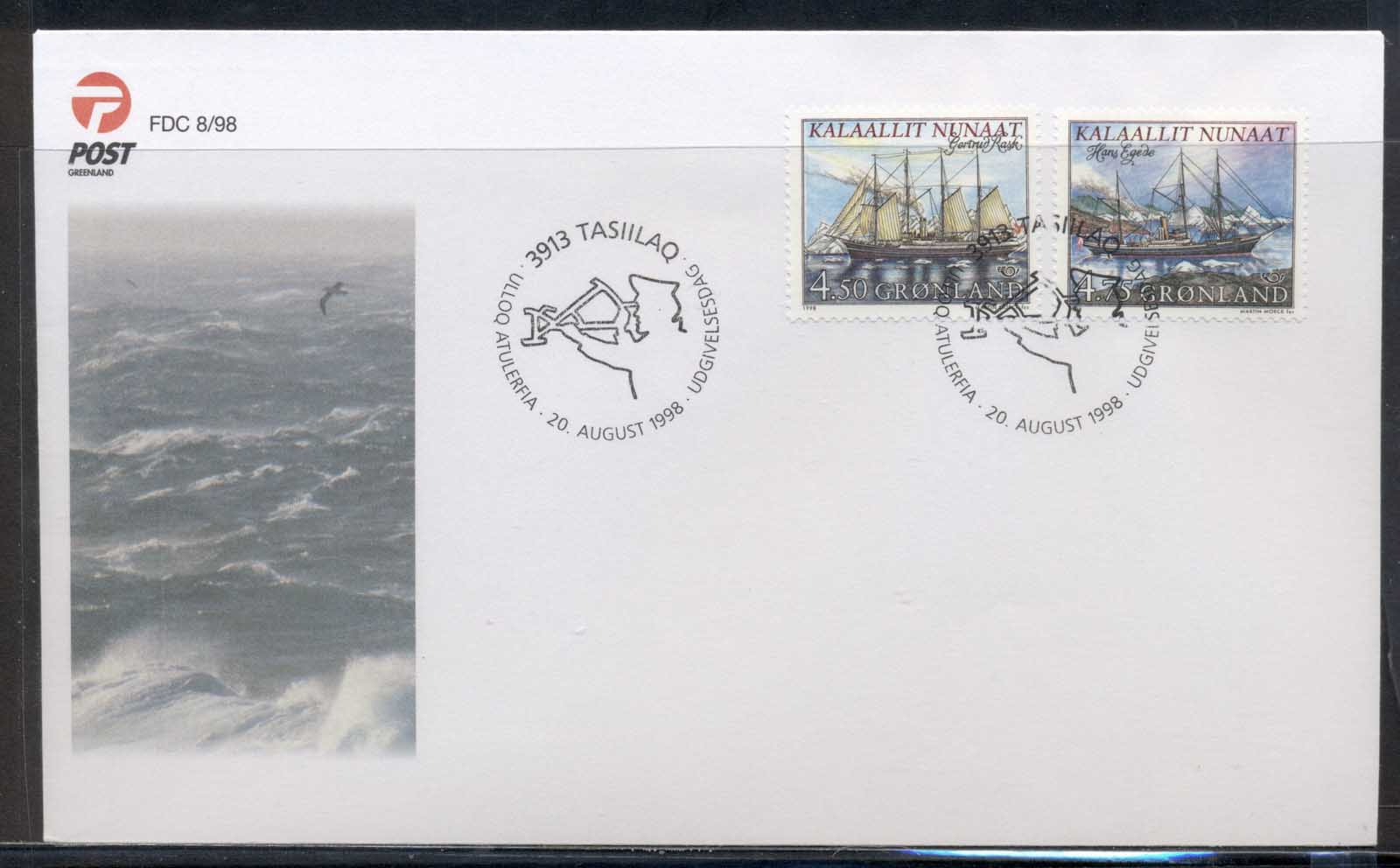 Greenland 1998 Ships FDC