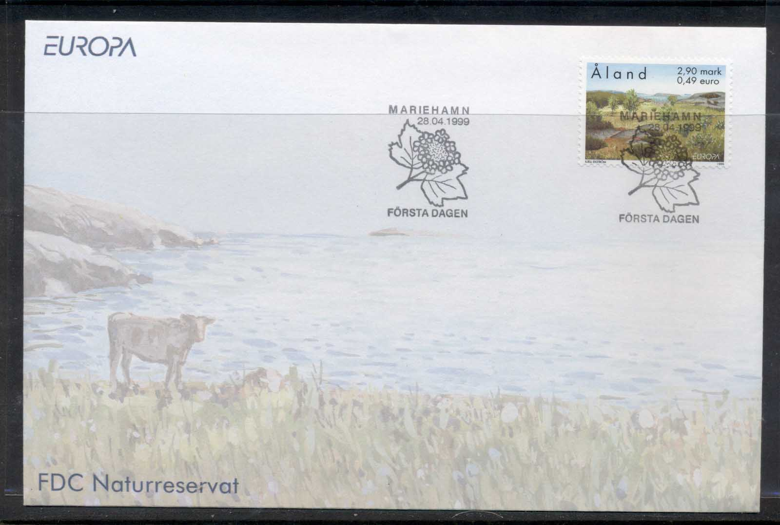 Aland 1999 Europa Nature Parks FDC