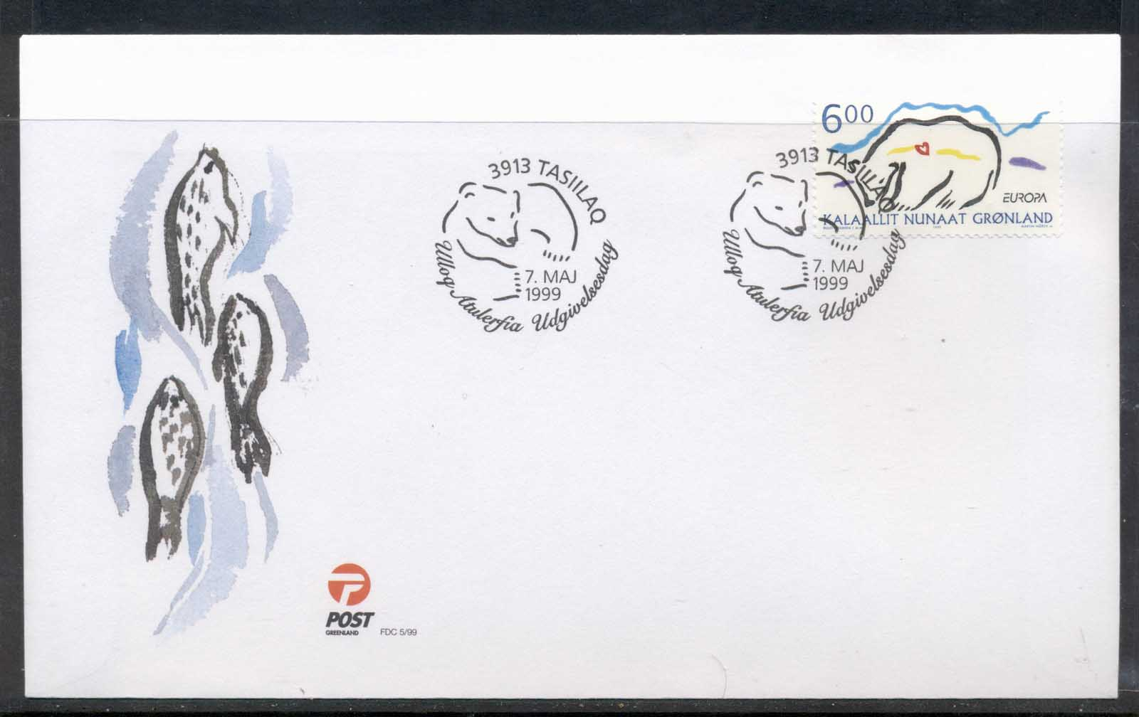Greenland 1999 Europa Nature Parks FDC
