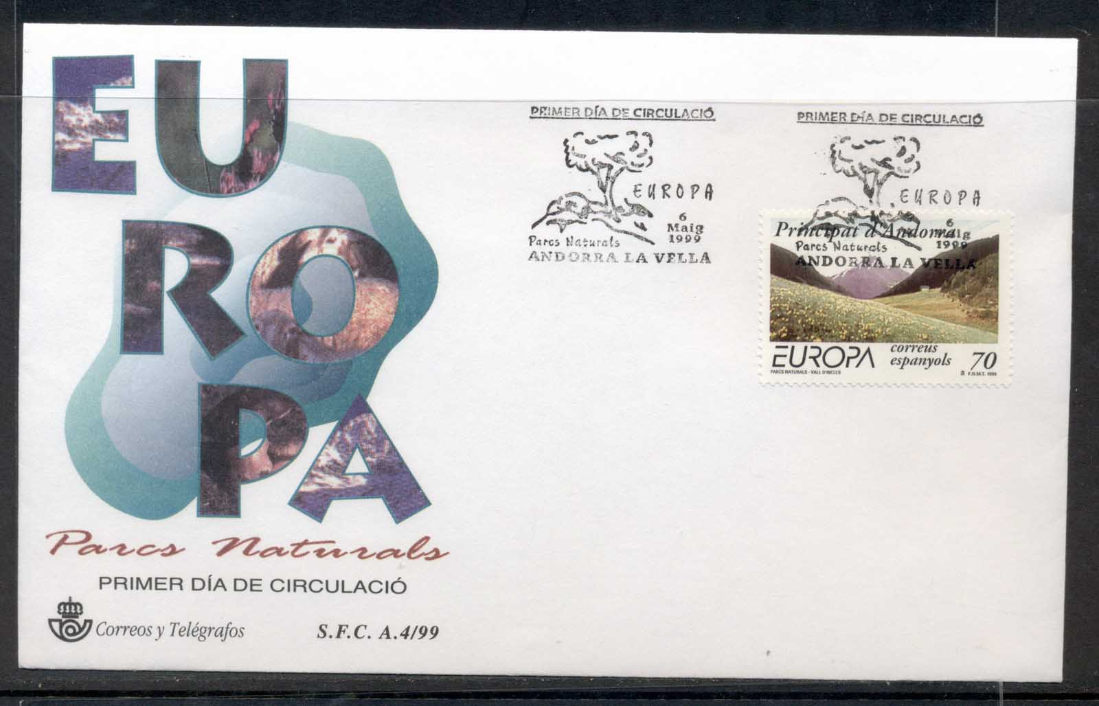 Andorra (Sp) 1999 Europa Nature Parks FDC