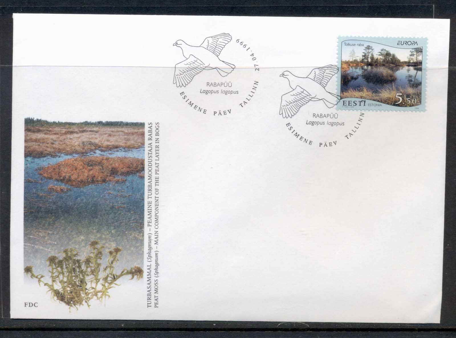 Estonia 1999 Europa Nature Parks FDC