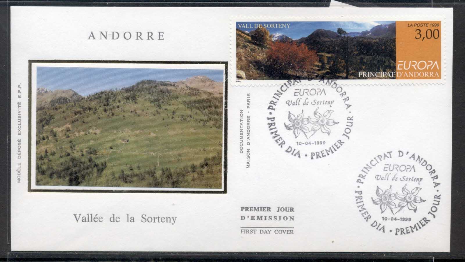 Andorra (Fr) 1999 Europa Nature Parks FDC