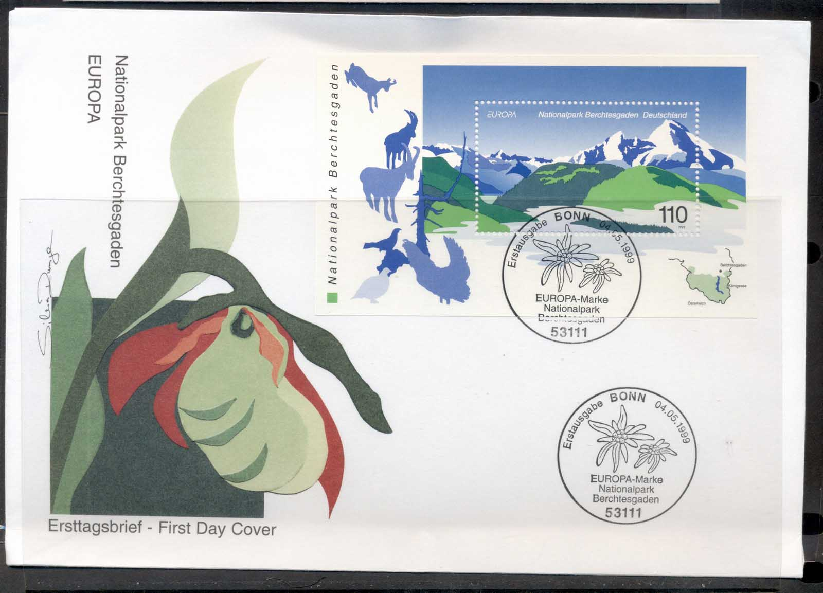 Germany 1999 Europa Nature Parks MS FDC