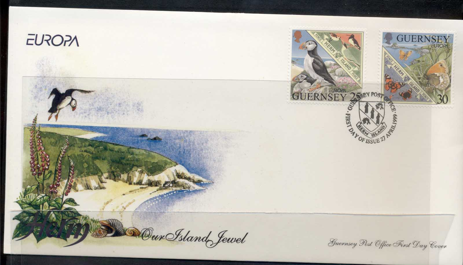 Guernsey 1999 Europa Nature Parks FDC
