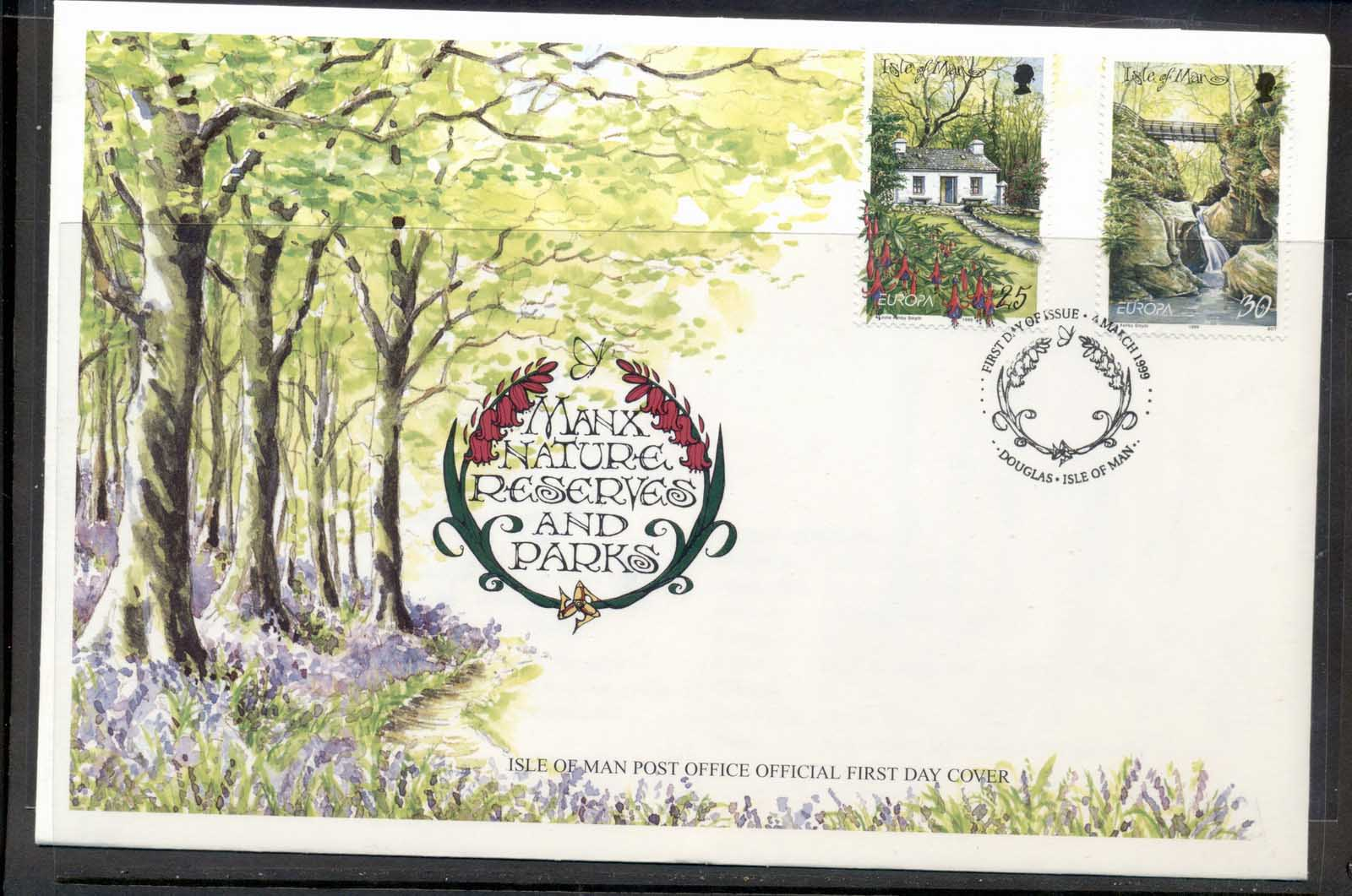 Isle of Man 1999 Europa Nature Parks FDC