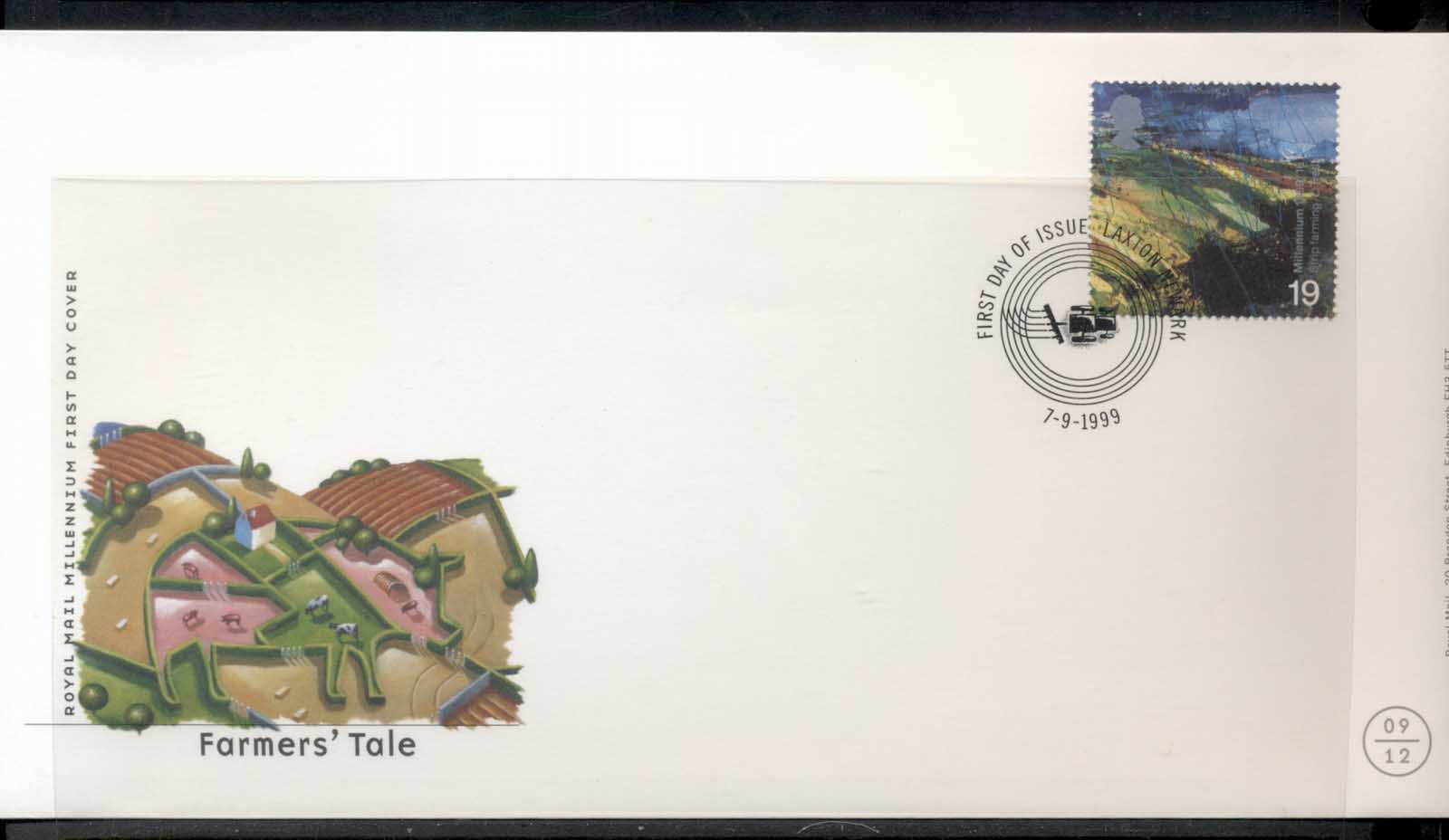 GB 1999 Europa Nature Parks, A Farmers Tale FDC