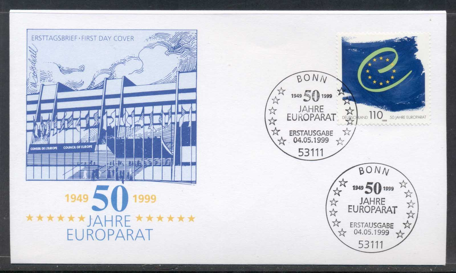 Germany 1999 Council of Europe FDC