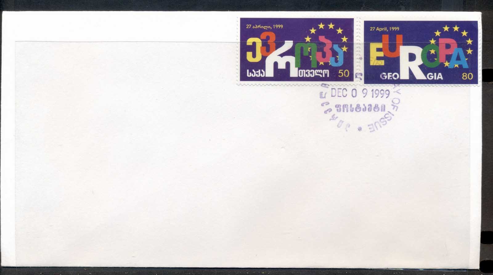 Georgia 1999 Council of Europe FDC
