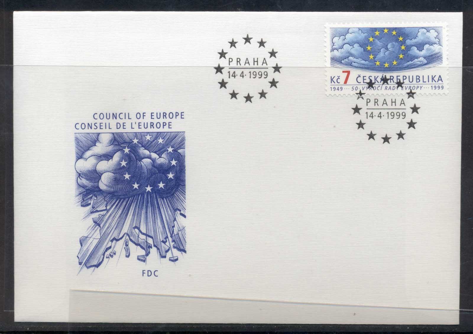 Czech Republic 1999 Council of Europe FDC
