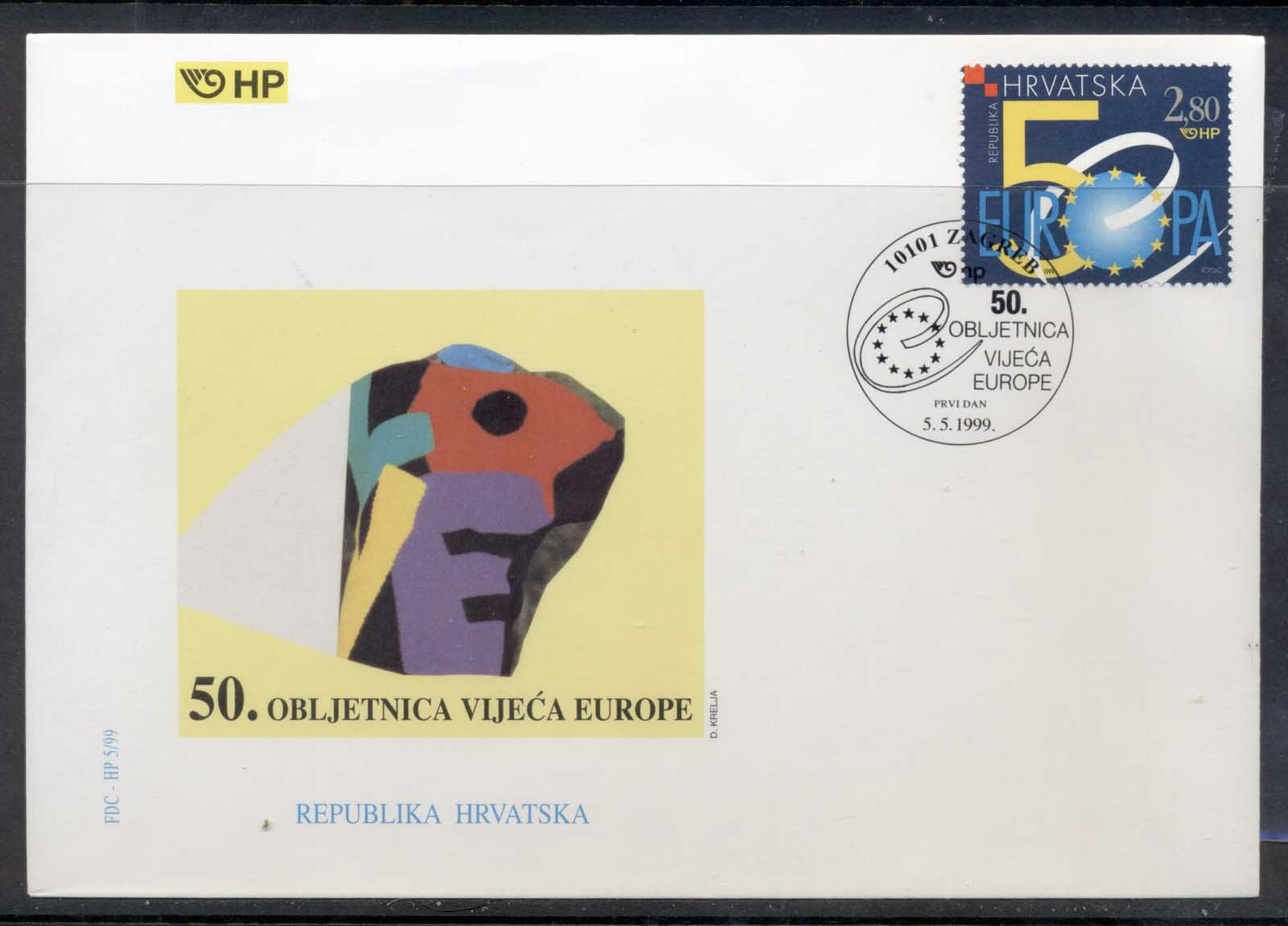 Croatia 1999 Council of Europe FDC