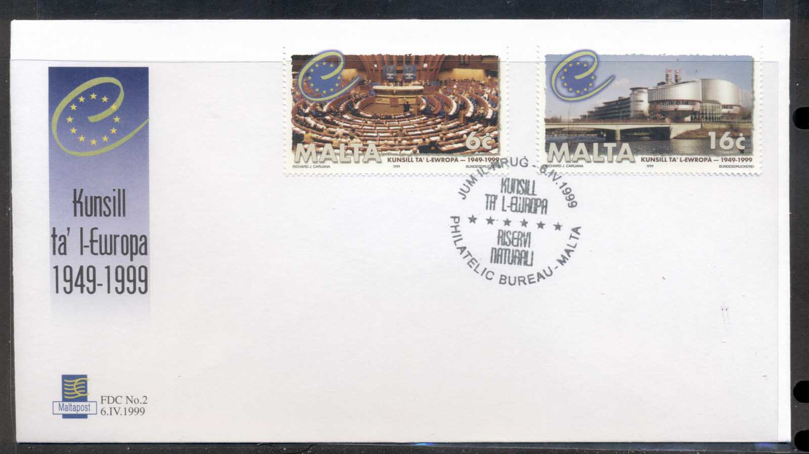 Malta 1999 Council of Europe FDC