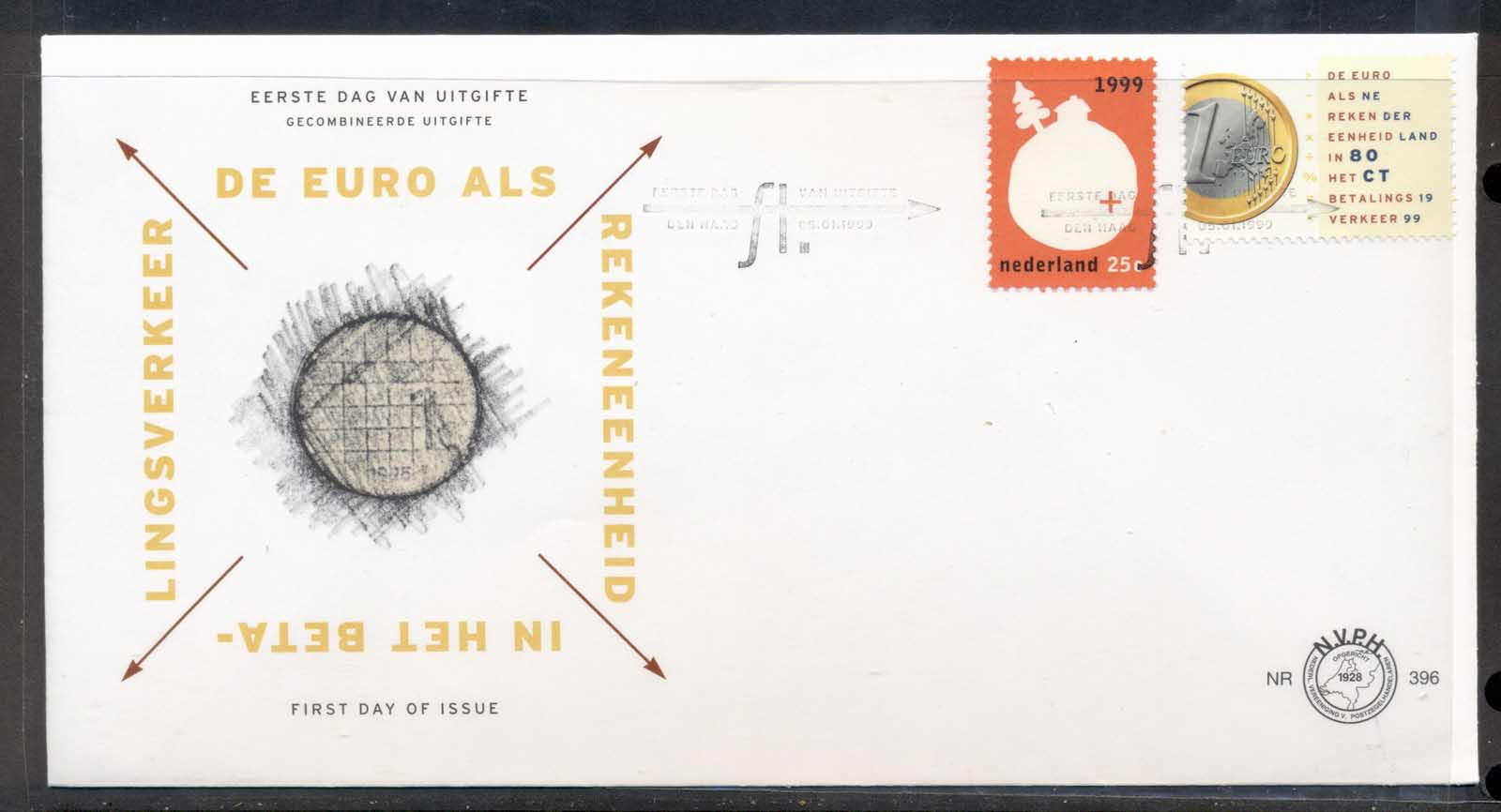 Netherlands 1999 Euro Currency FDC
