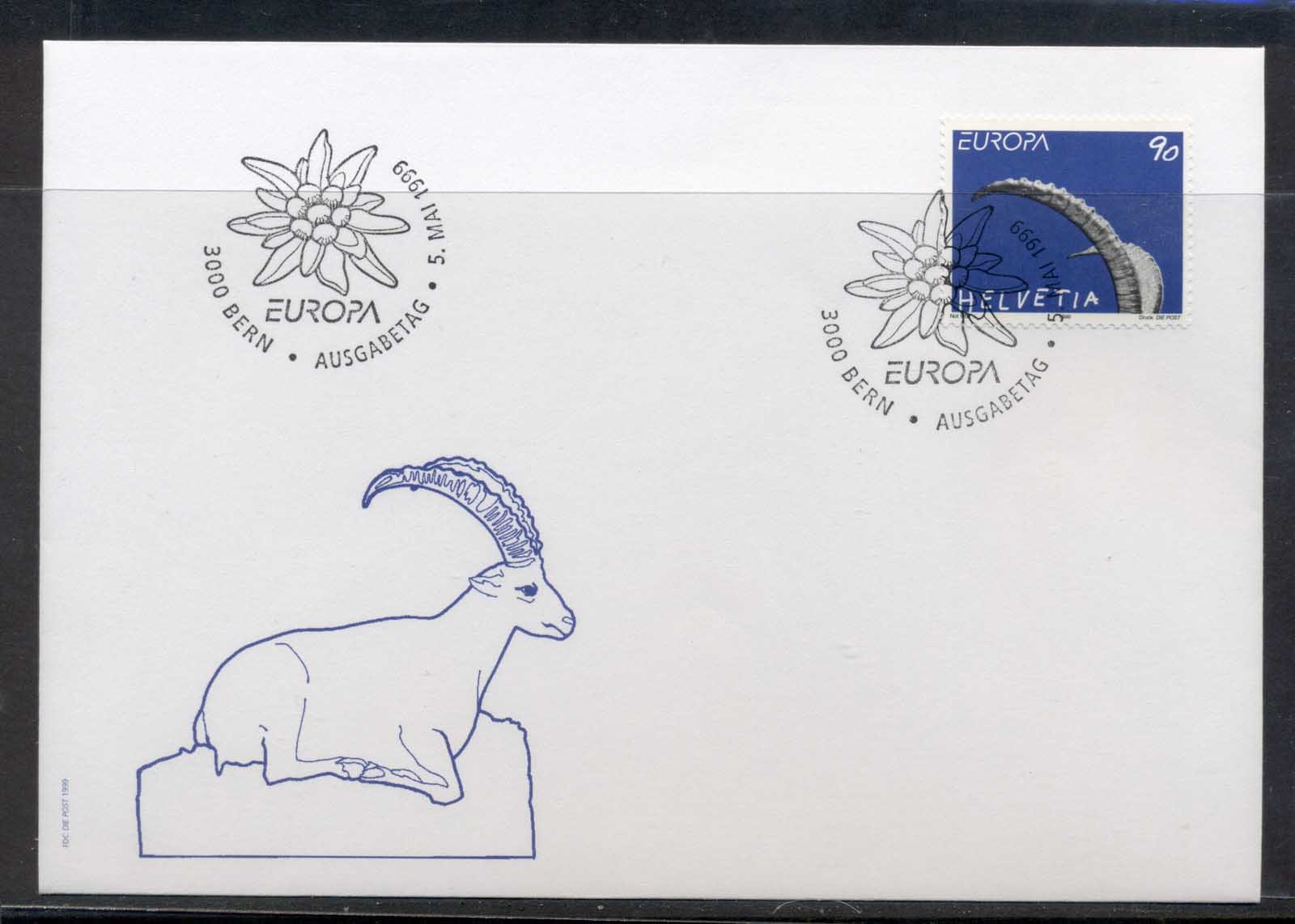 Switzerland 1999 Europa Nature Parks FDC