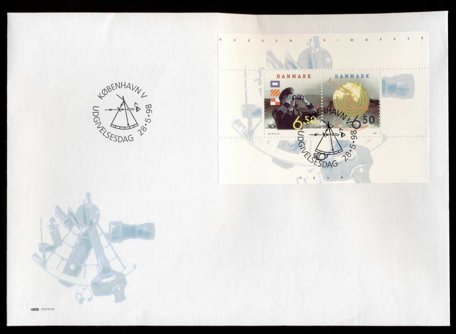 Denmark 1998 Nordic Stamps MS XLFDC