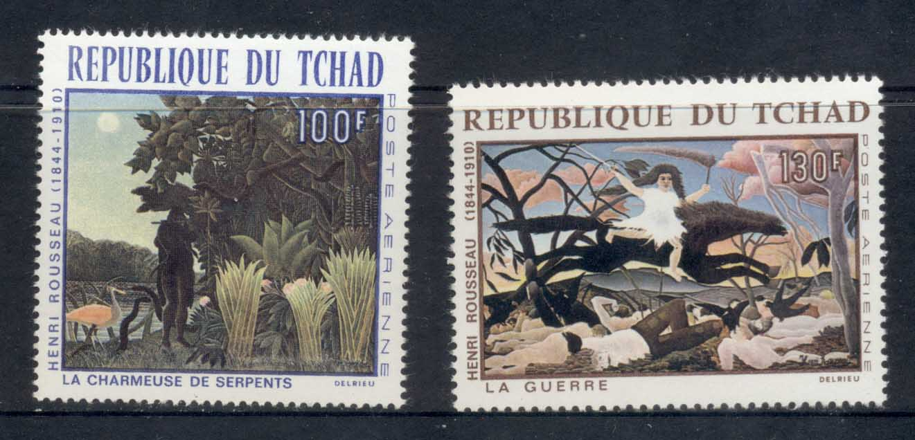 Chad 1968 Paintings by Henri Rousseau MUH
