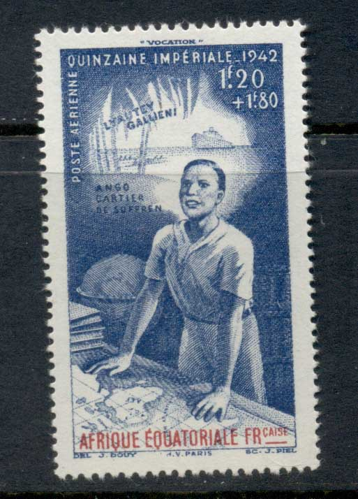 French Equitorial Africa 1942 Colonial Education Fund MLH