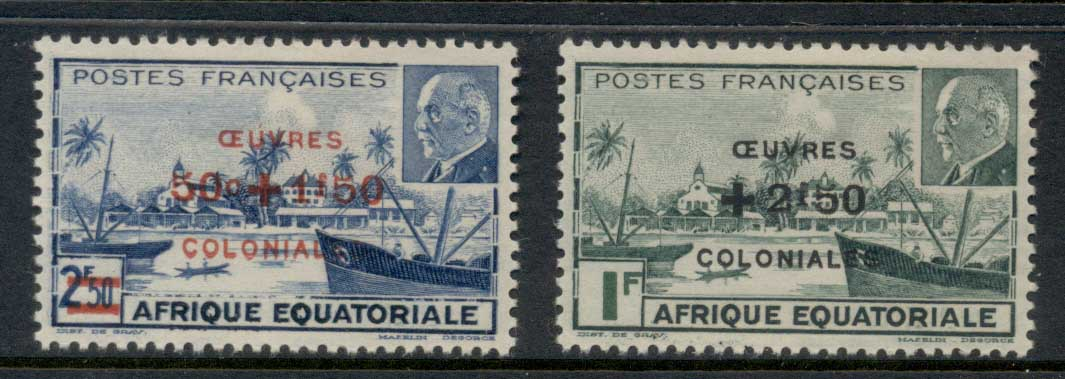 French Equitorial Africa 1944 Petain Opts, Colonial Development Fund MLH