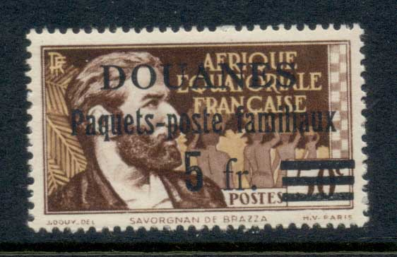 French Equitorial Africa 1940 Customs Opt. MLH