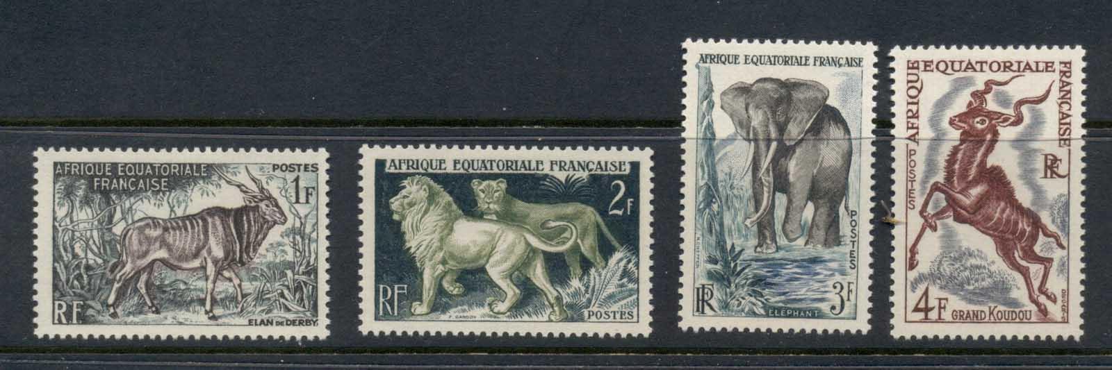 French Equitorial Africa 1957 Wildlife MLH