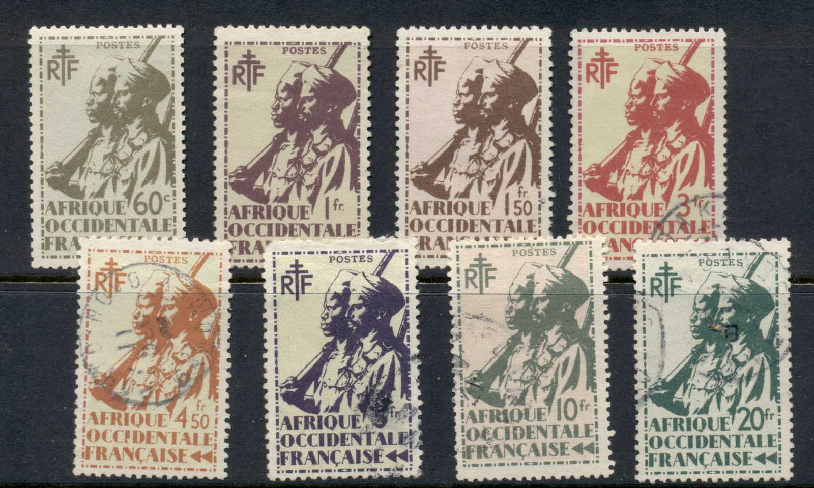 French West Africa 1945 Colonial Soldiers Asst MLH/FU
