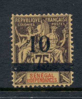 Senegal 1903 Navigation & Commerce surch 10c on 75c Fournier Forgery MLH