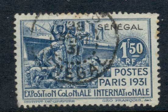 Senegal 1931 Colonial Exposition 1.50f FU