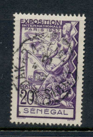 Senegal 1937 Paris International Exposition 20c FU
