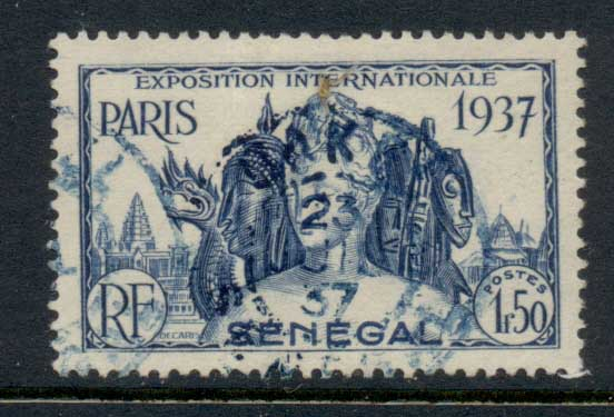 Senegal 1937 Paris International Exposition 1.75f FU