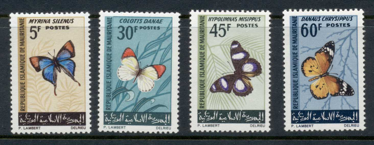 Mauritania 1966 Insects, Butterflies MLH