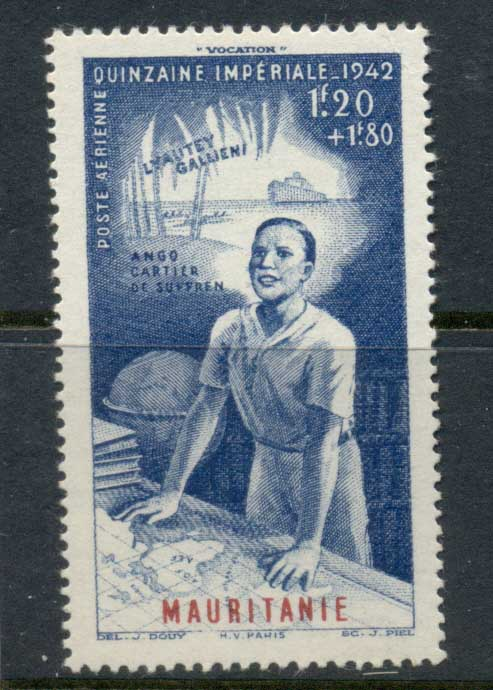Mauritania 1942 Colonial Education Fund MLH