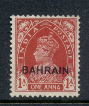 Bahrain 1938-41 KGVI Opt on India 1a MLH