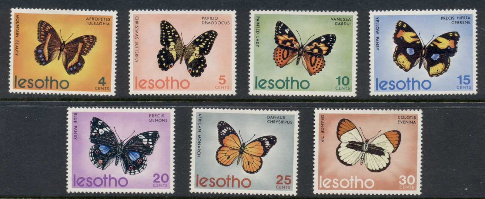Lesotho 1973 Insects, Butterflies of Lesotho MUH