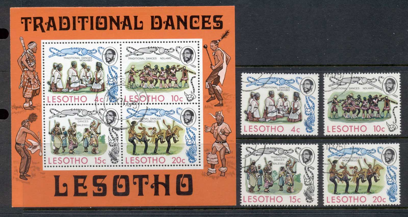 Lesotho 1975 Traditional Dances = MS FU