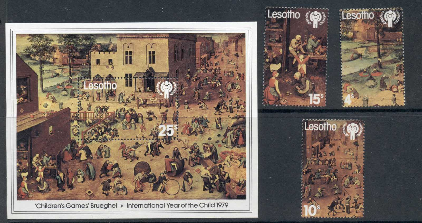 Lesotho 1979 ICY Intl. Year of the Child + MS MUH
