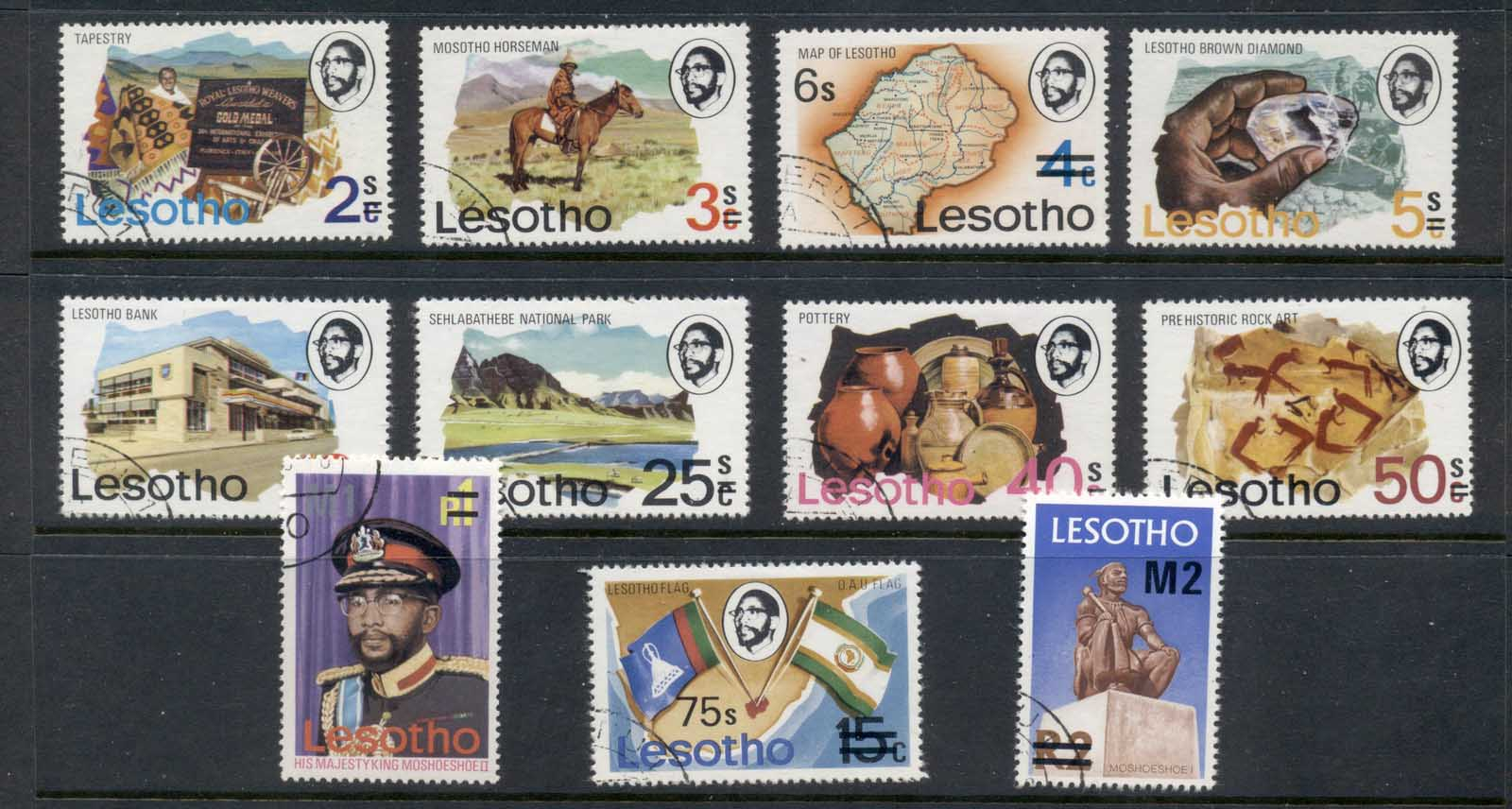 Lesotho 1980 Pictorials Surcharged FU