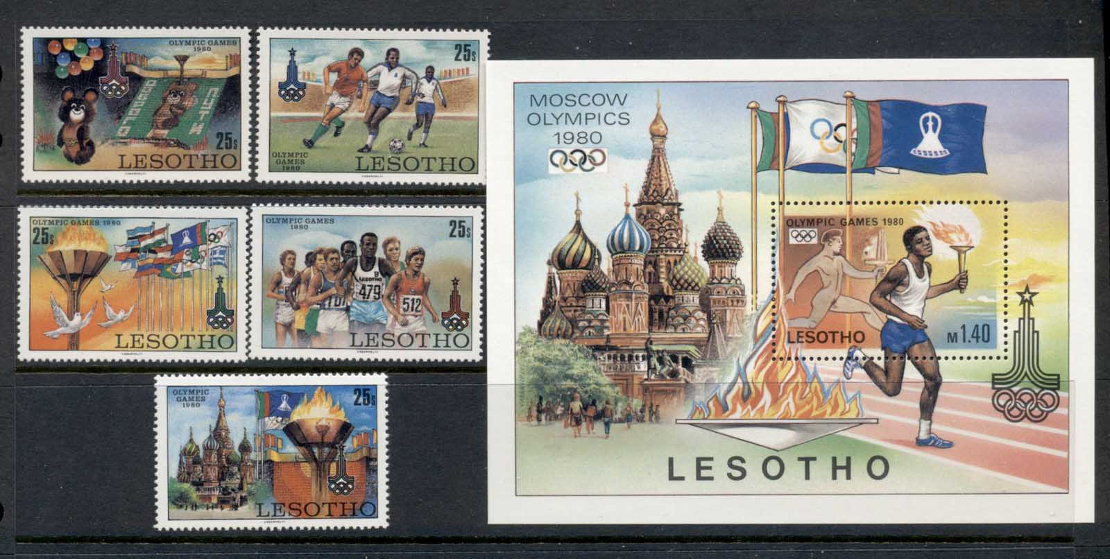 Lesotho 1980 Summer Olympics Moscow + MS MUH