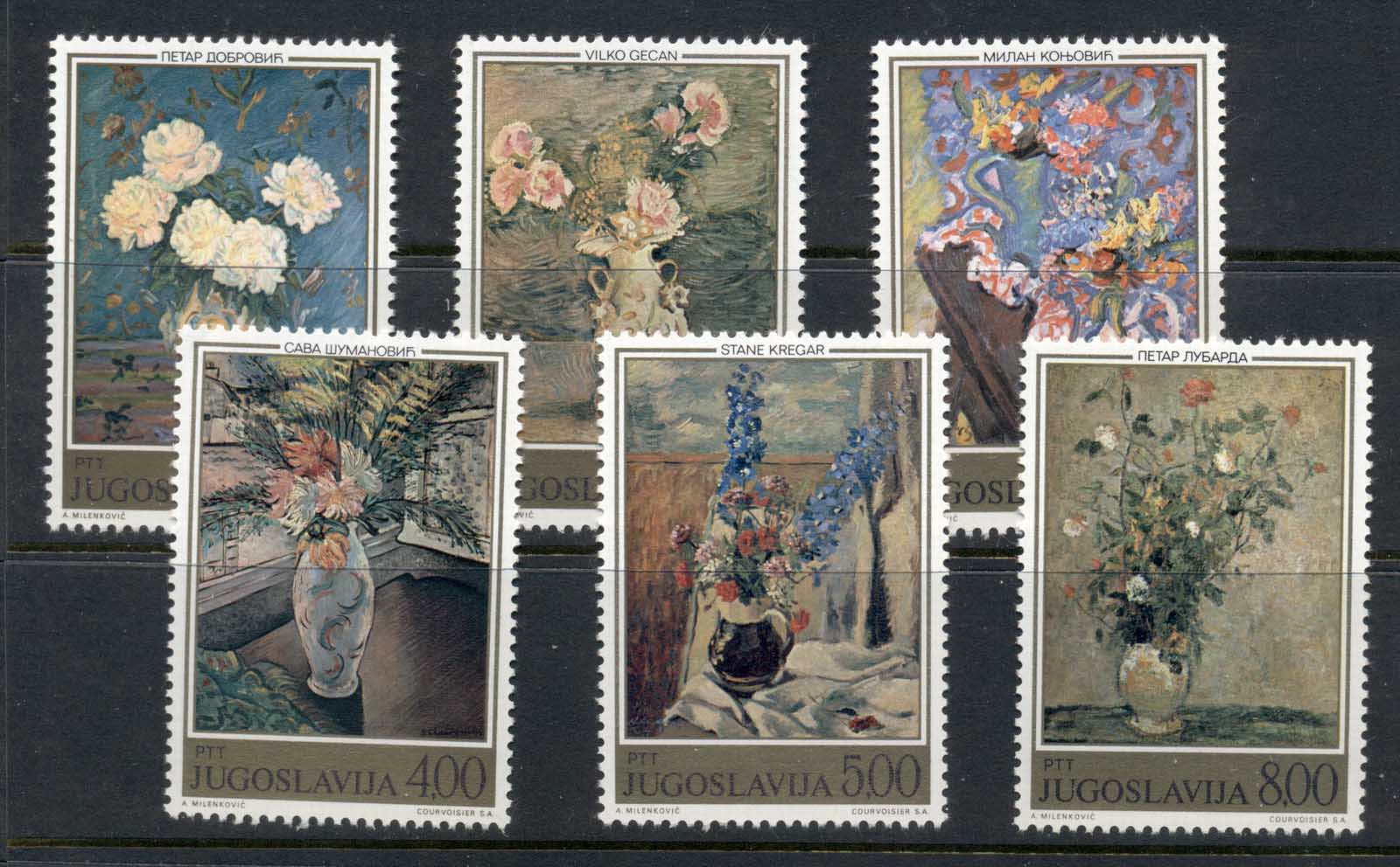 Yugoslavia 1974 Paintings of Flowers by Yugoslav Artists MUH