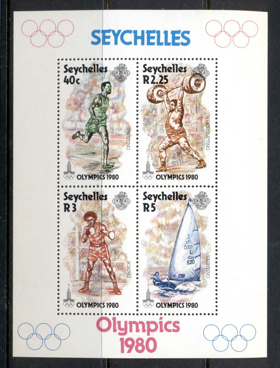 Seychelles 1980 Summer Olympics Moscow MS MUH