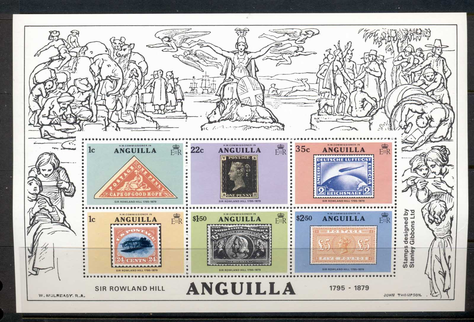 Anguilla 1979 Sir Rowland Hill Death Centenary MS MUH