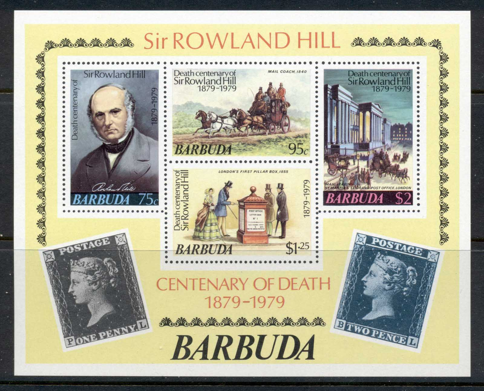 Barbuda 1979 Sir Rowland Hill Death Centenary MS MUH