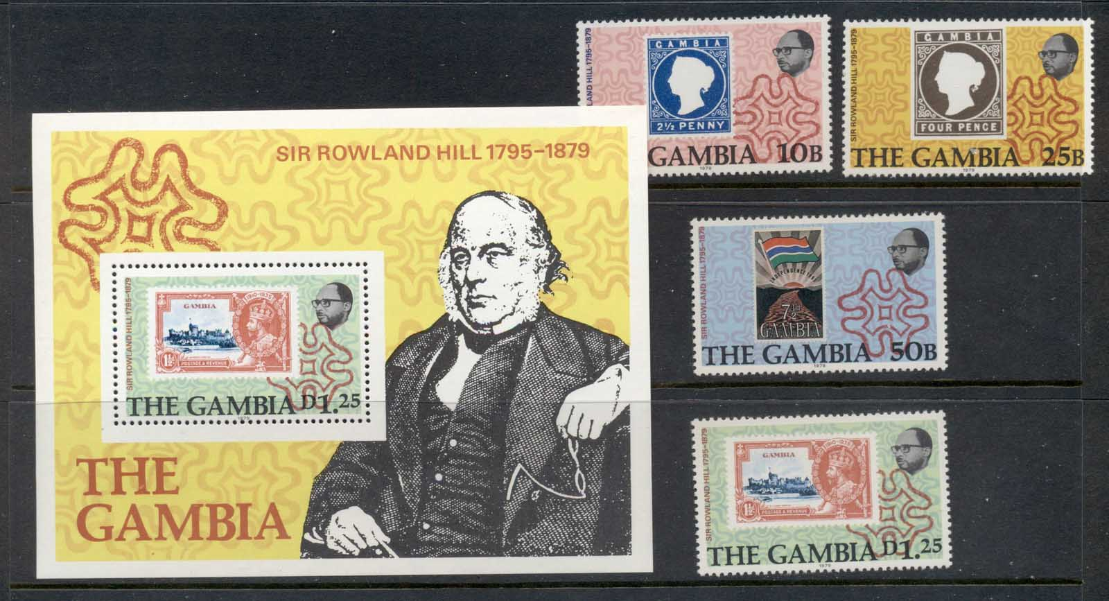 Gambia 1979 Sir Rowland Hill Death Centenary + MS MUH