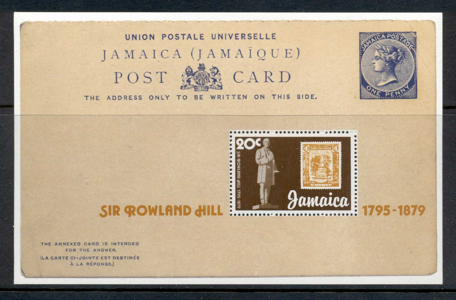 Jamaica 1979 Sir Rowland Hill Death Centenary MS MUH