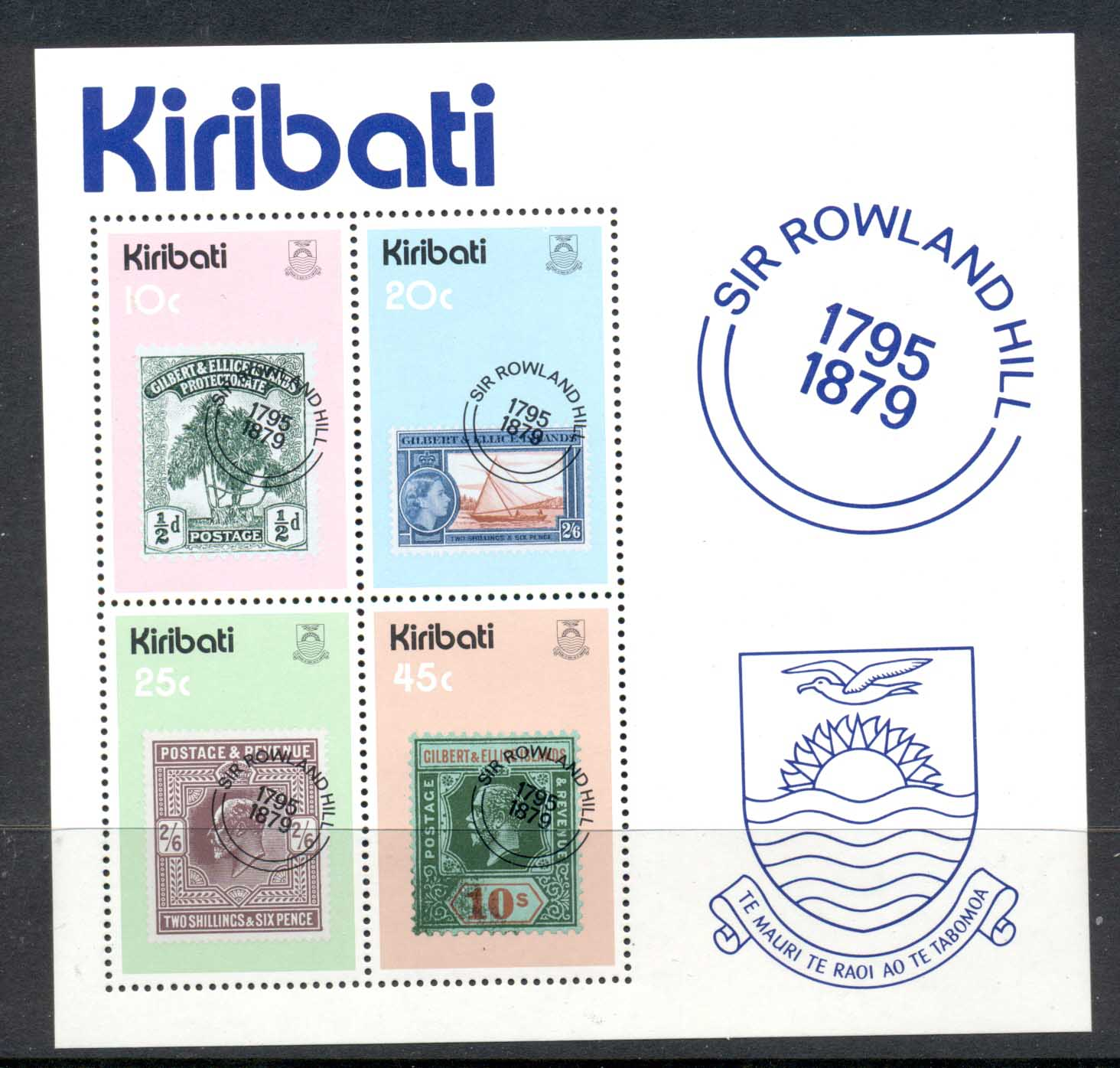 Kiribati 1979 Sir Rowland Hill Death Centenary MS MUH
