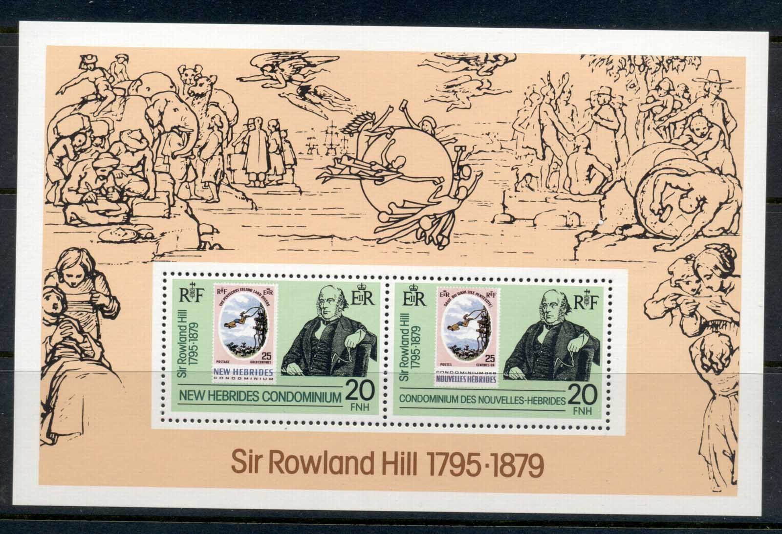 New Hebrides (Br) 1979 Sir Rowland Hill Death Centenary MS MUH